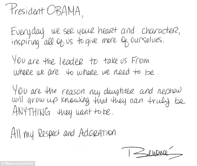 A letter from Beyonce to Barack Obama | Open Letter