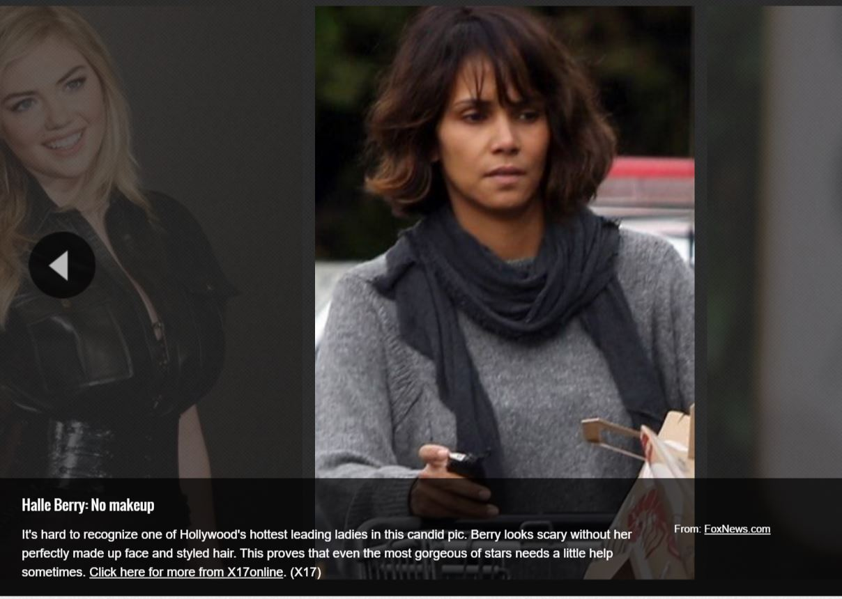 Halle Berry is beautiful in this picture, far from scary!